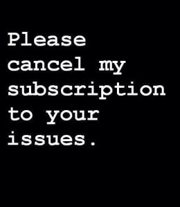 issues - subscription cancelled