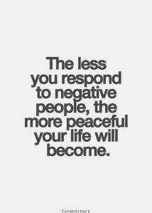 responding to negative people