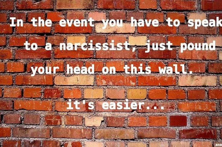 speaking with a Narcissist