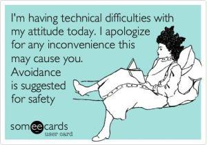 Attitude warning