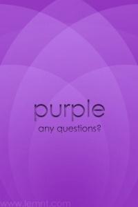 purple?