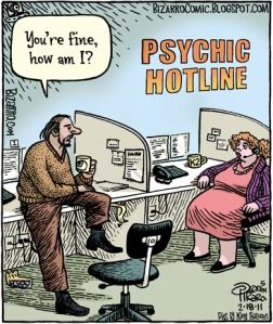 Bizarro comics -psychic