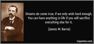 J.M.Barrie quote