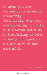 krishnamurti listening
