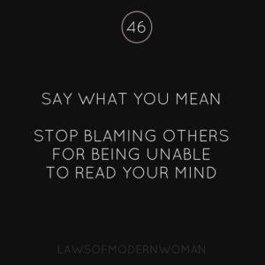 mind reading blame