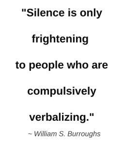 silence burroughs