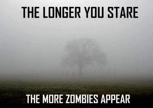 Zombies appearing
