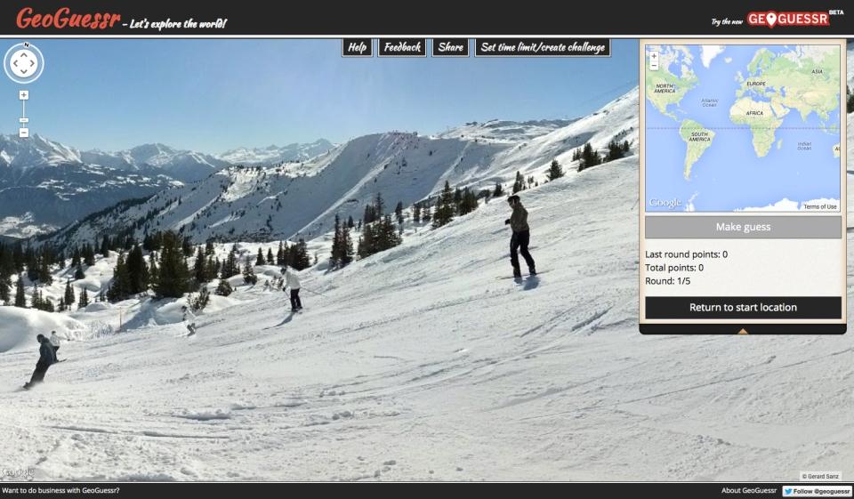 GeoGuesser skiers