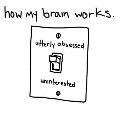 obsession vs disinterest