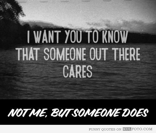 caring, not caring