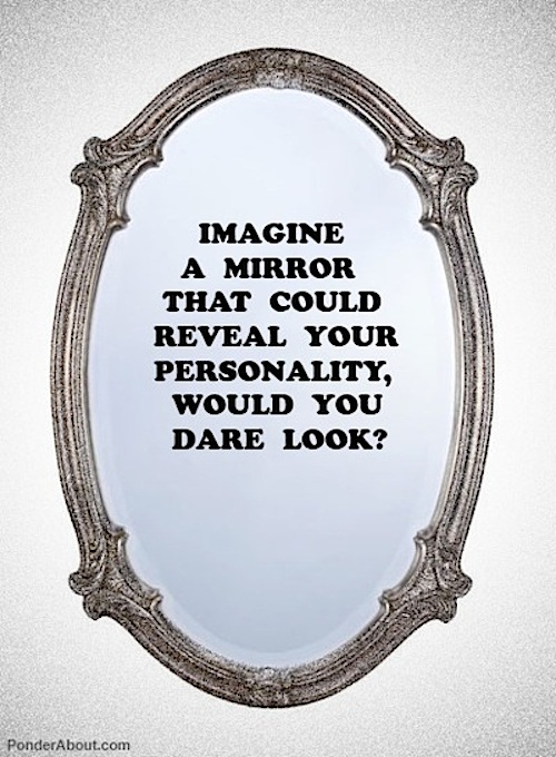 personality revealing mirror