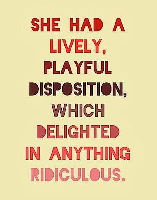 playful disposition