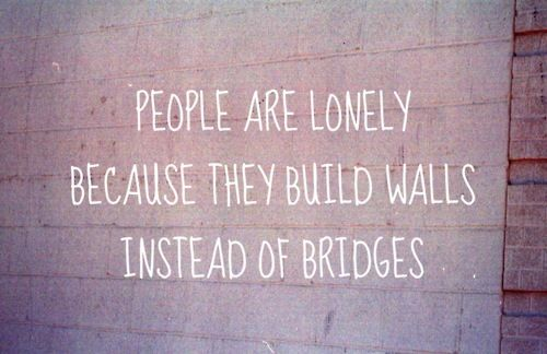 walls instead of bridges