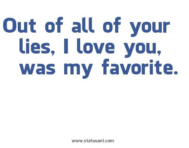 I love you lies