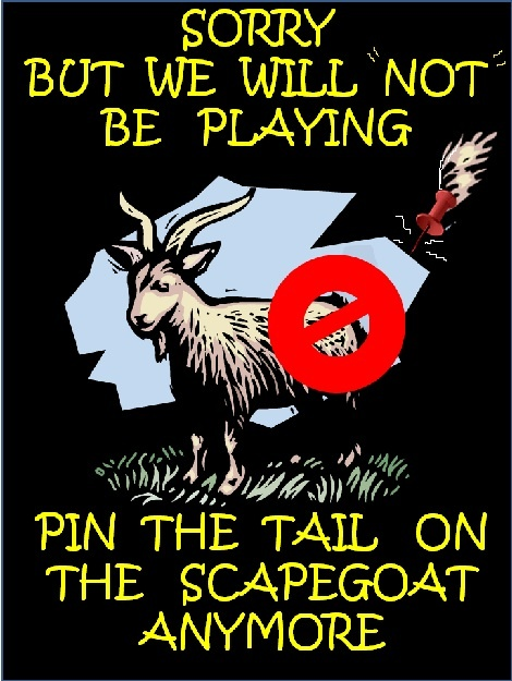 pin the tail on the scapegoat