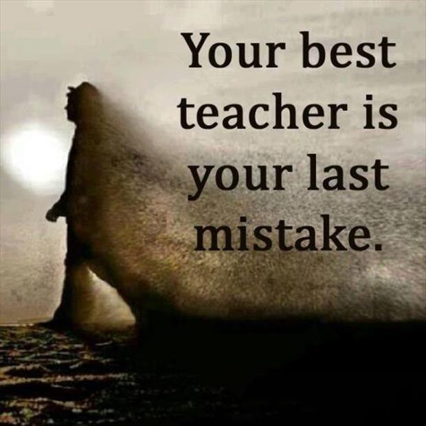 teacher:mistake