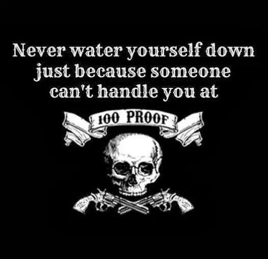 Watering yourself down