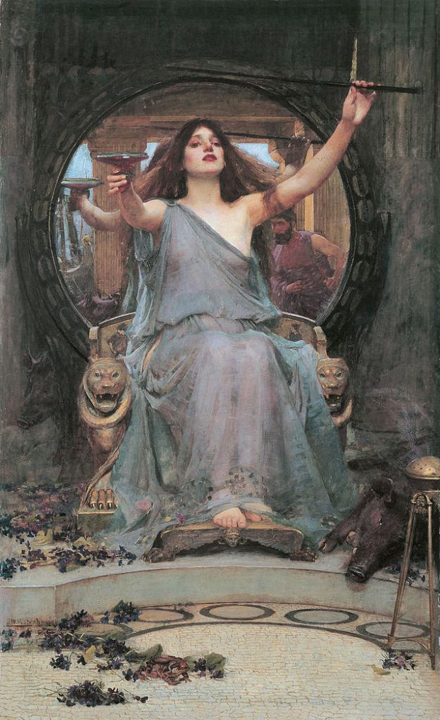 Circe_Offering_the_Cup_to_Odysseus - J.W.Waterhouse