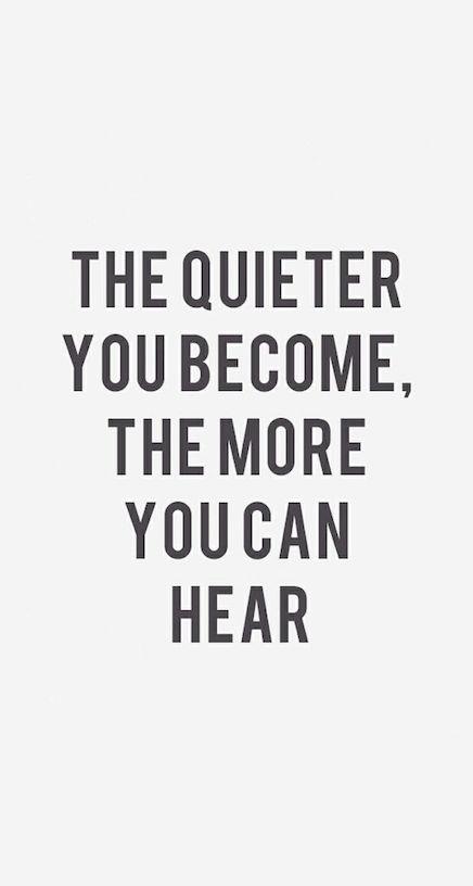 Quiet musings