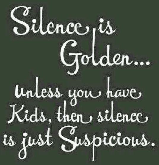 Suspicious golden silence