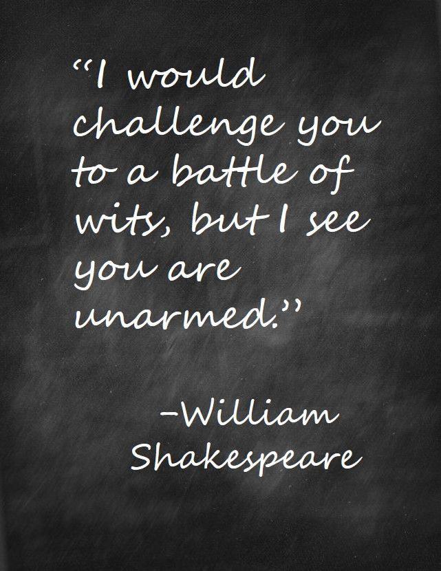 Wits - Shakespeare