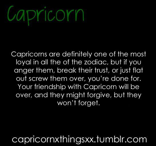 Capricorn and trust