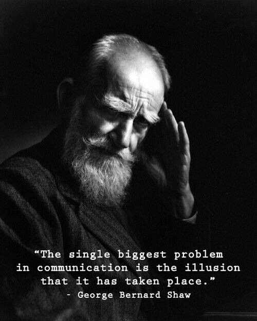 communication - George Bernard Shaw