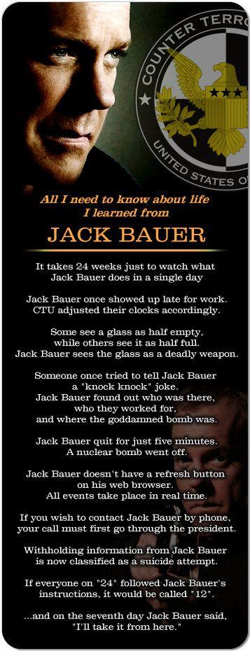 Jack bauer life lesson