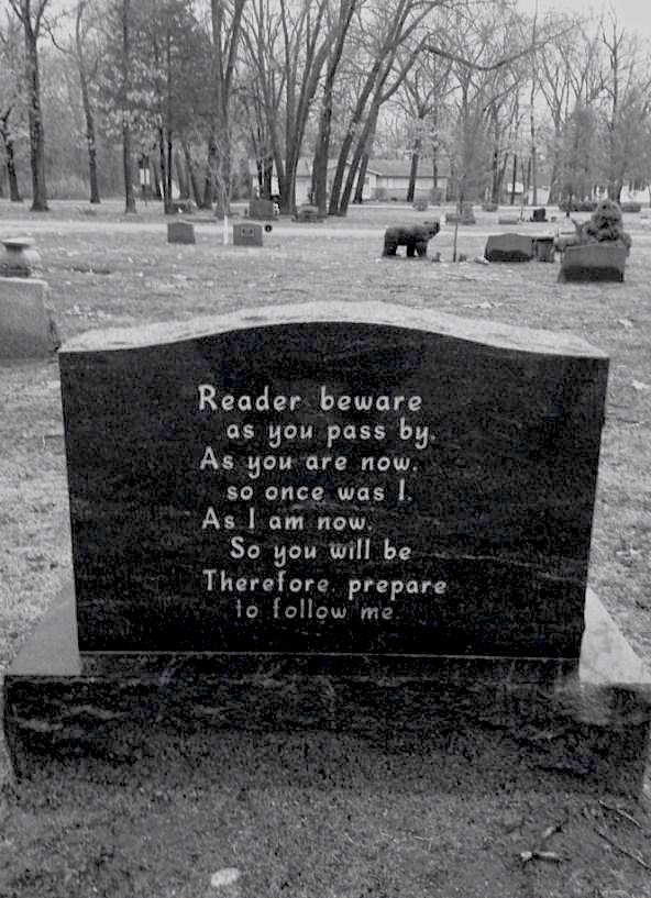 memento mori epitaph