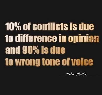 conflict - tone versus opinion