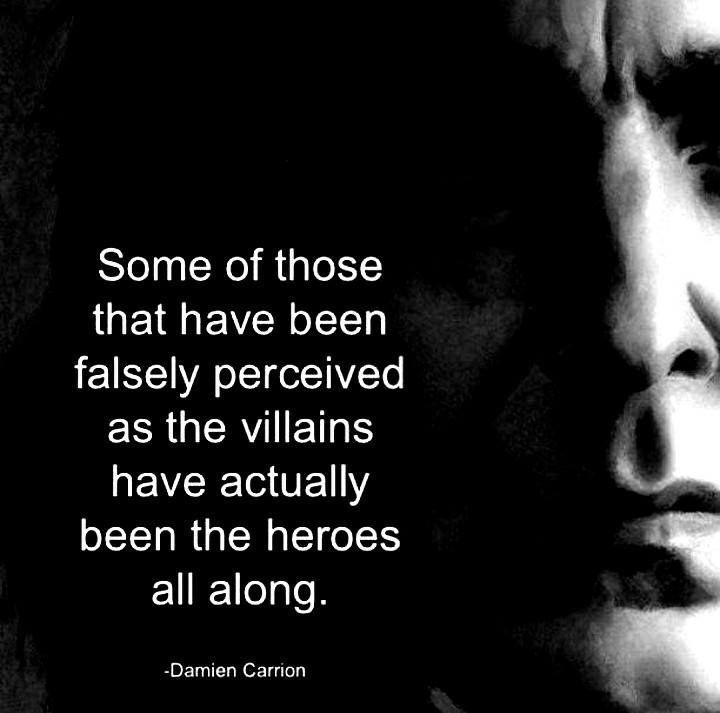 hero:villain - damien carrion