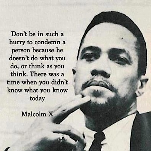 Malcolm X - evolution