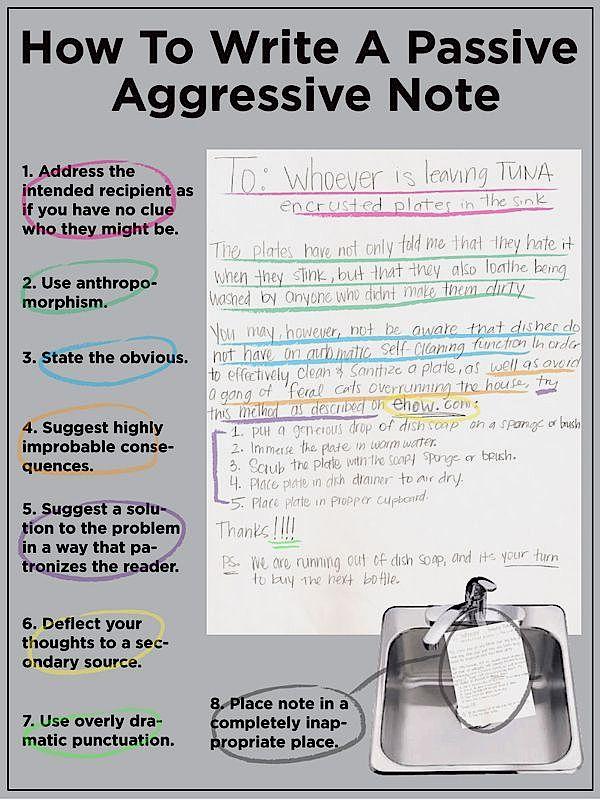 passive-aggressive note - buzzfeed