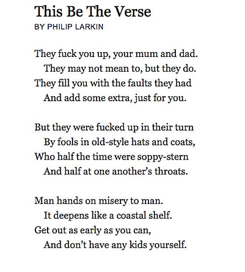 This Be The Verse - Philip Larkin