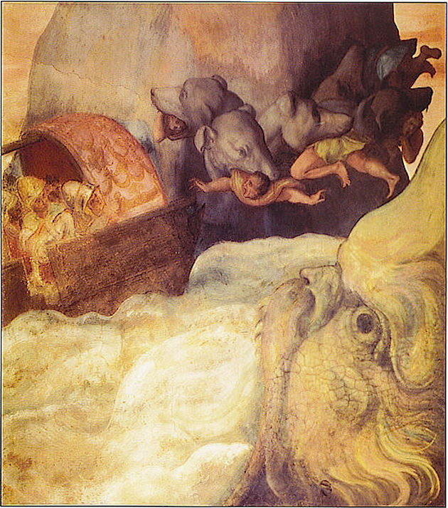 Scylla and Charybdis - italian fresco