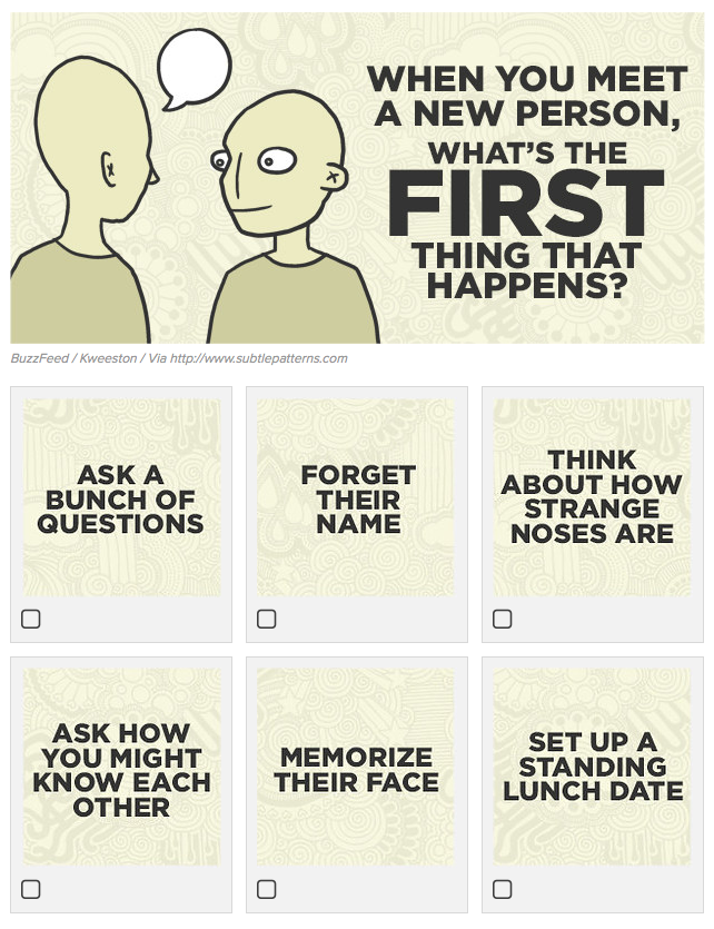 when you meet a new person - buzzfeed