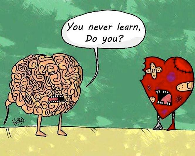 You never learn - brain vs heart by kuro