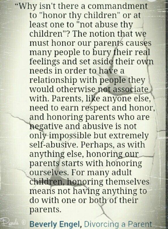 honour thy children