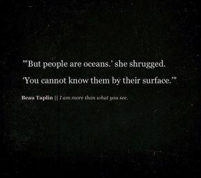 Beau Taplin - people are oceans