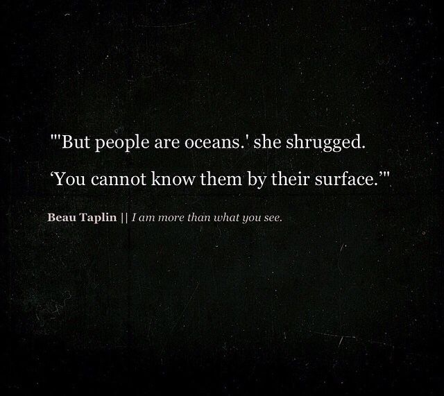 Beau Taplin - people are oceans
