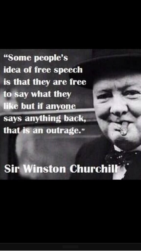 Churchill says stuff...