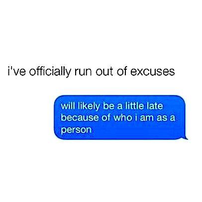 excuses et cetera