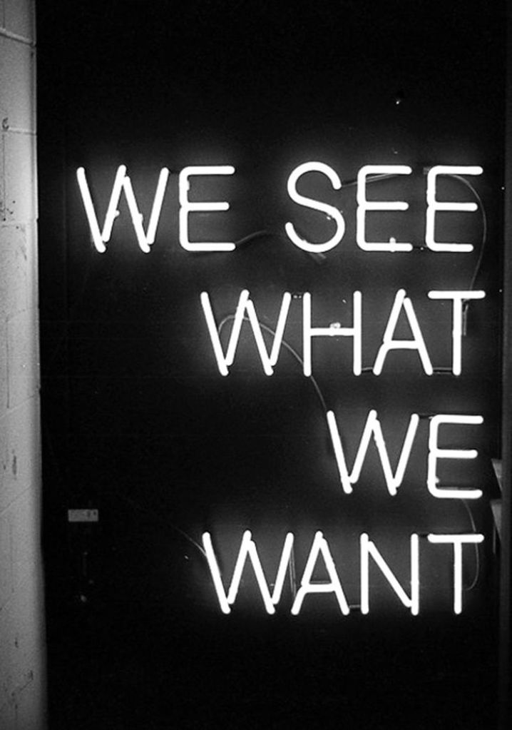 we see what we want