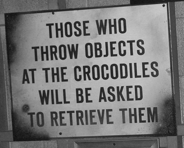 crocodile sign