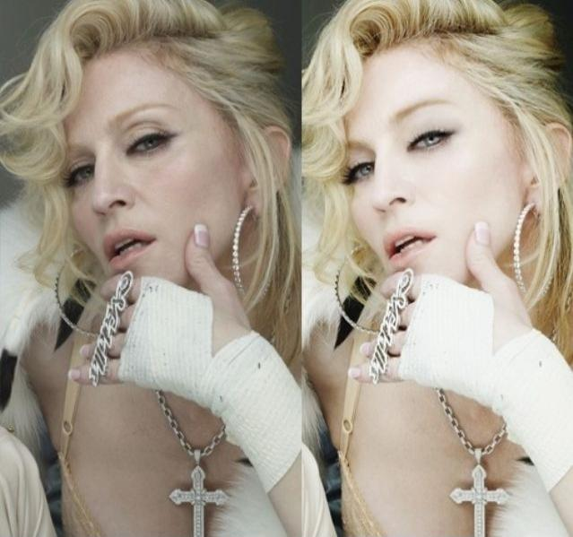 photoshopped madonna