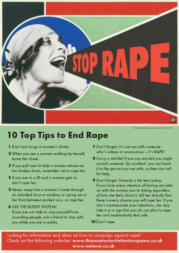 top tips for ending rape