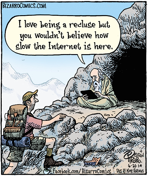 Hermit humor bizarro comics