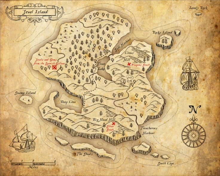 jewel island treasure map