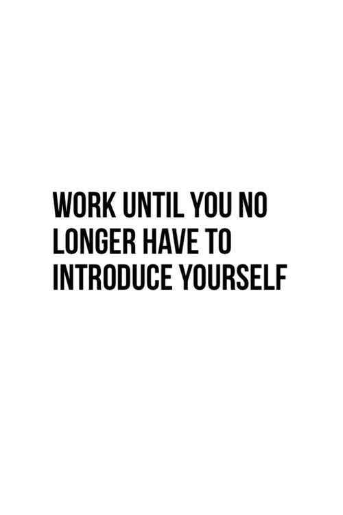 no longer introduce yourself