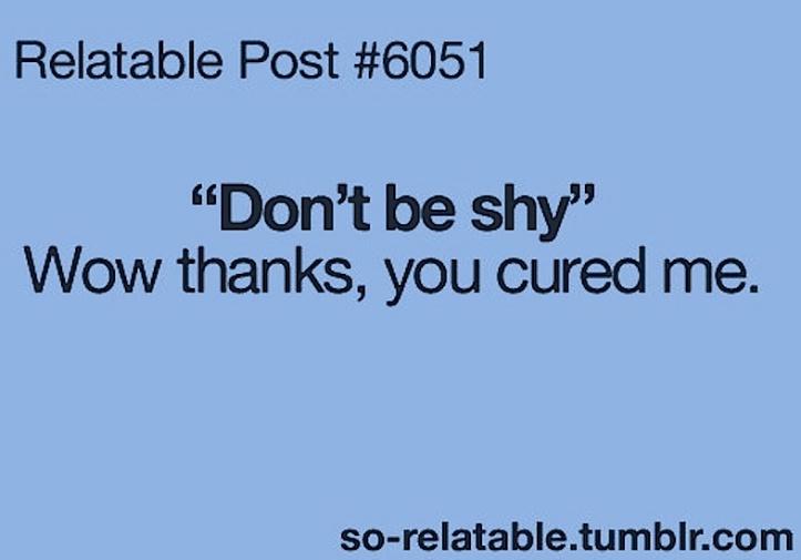 shy humor